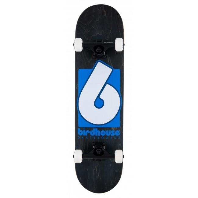 Birdhouse Stage 3 Skateboard B Logo Black Blue 8