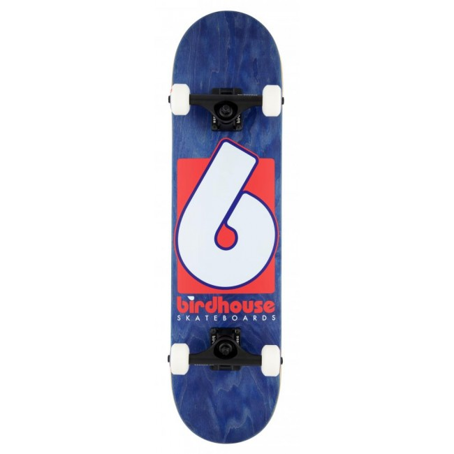 Birdhouse Stage 3 Skateboard B Logo Navy/Red 7.75