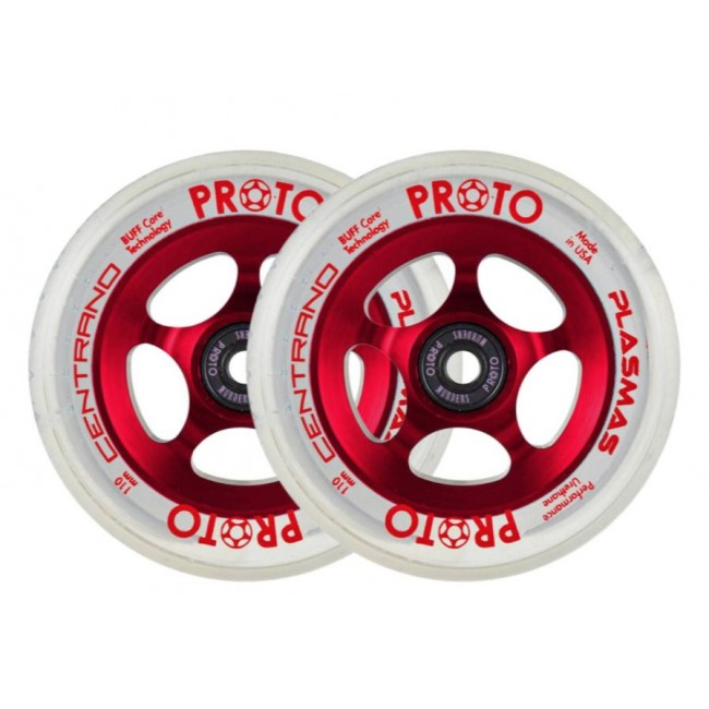 Proto X Centrano Plasma Scooter Wheels Clear On Red 2 Pack