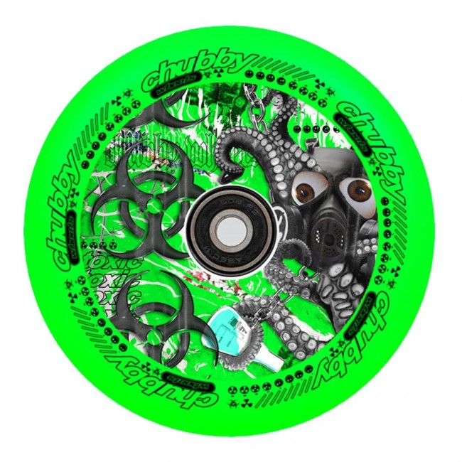 Chubby Lab Scooter Wheels Neon Green 110mm