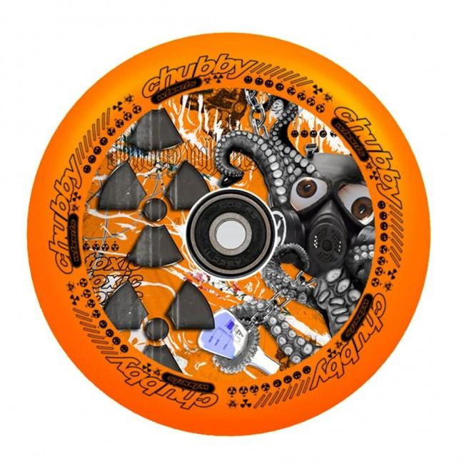 Chubby Lab Scooter Wheels Neon Orange 110mm