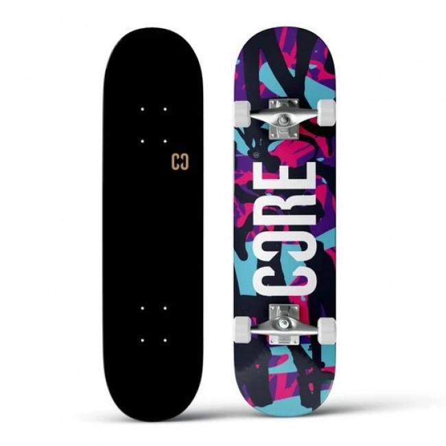 Core Split Complete Skateboard Neon Splat 7.75