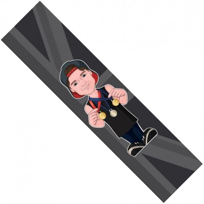 Figz XL Jordan Clark Scooter Grip Tape