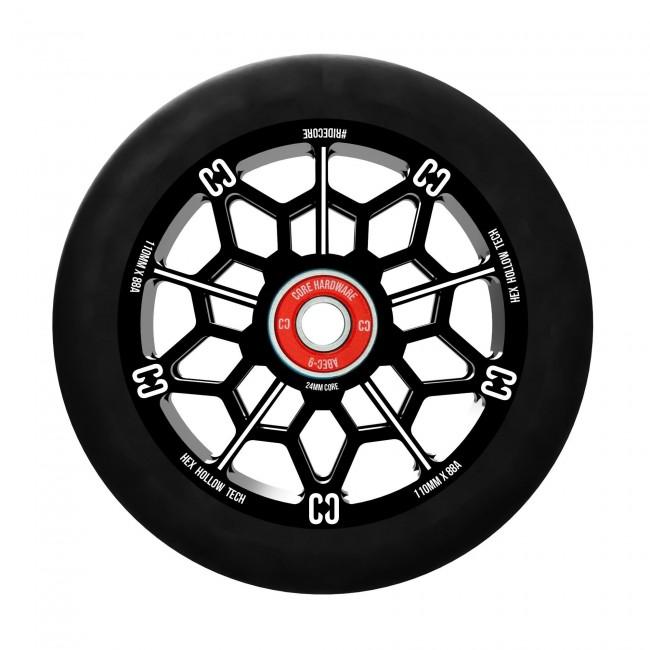 Core Hex Hollow Stunt Scooter Wheel Black 110mm