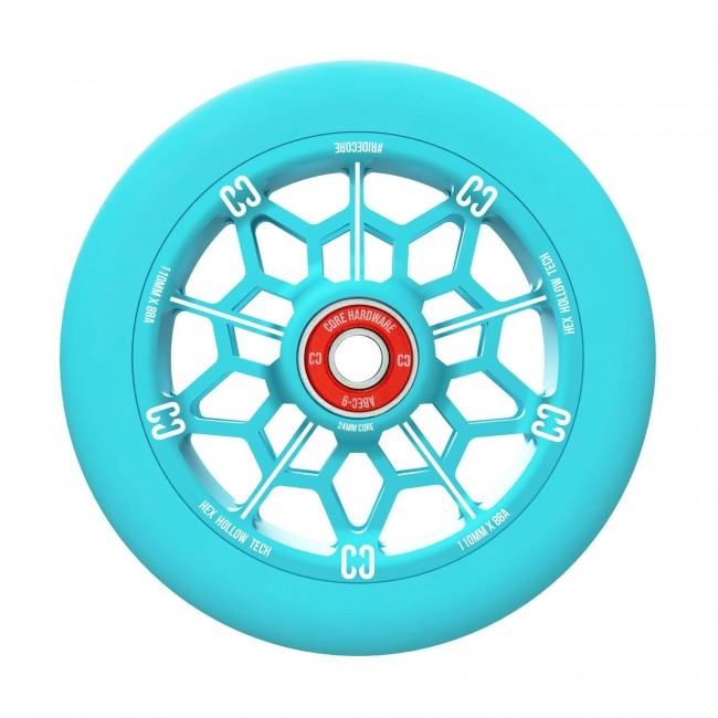 Core Hex Hollow Stunt Scooter Wheel Mint Blue 110mm