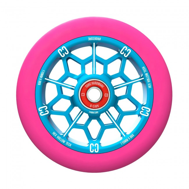 Core Hex Hollow Stunt Scooter Wheel Pink/Blue 110mm