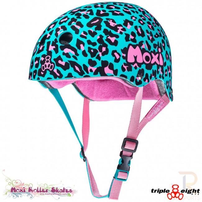 Moxi Triple 8 Sweatsaver Helmet Moxi Leopard V2