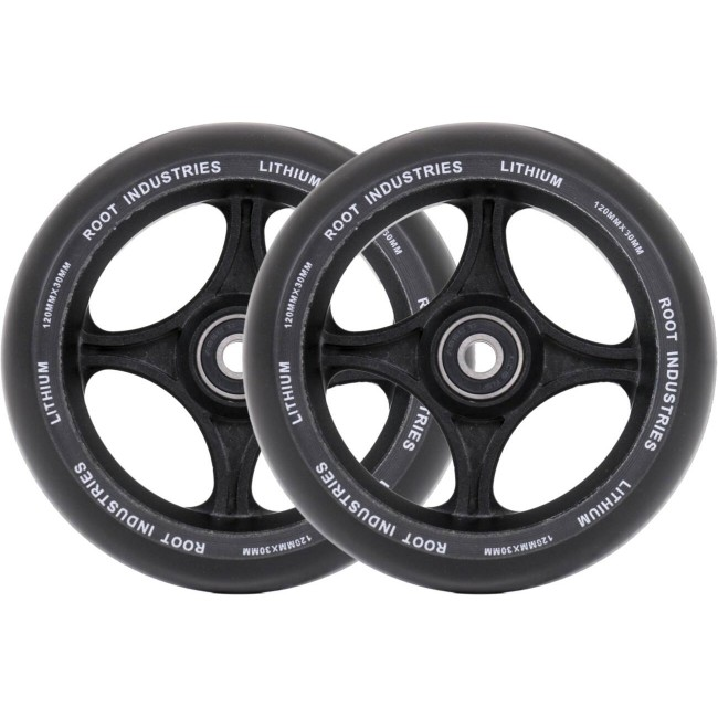 Root Lithium Scooter Wheels Black 110mm 2 Pack