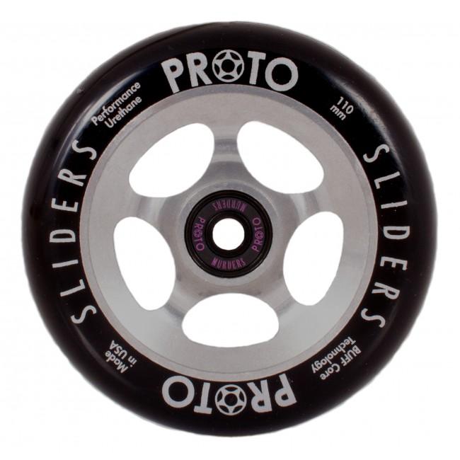 Proto Slider Scooter Wheels 110mm 2 Pack Black/Raw