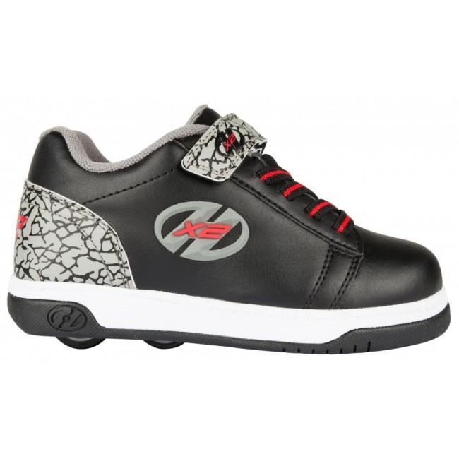 Heelys X2 Dual Up Black/Grey/Elephant