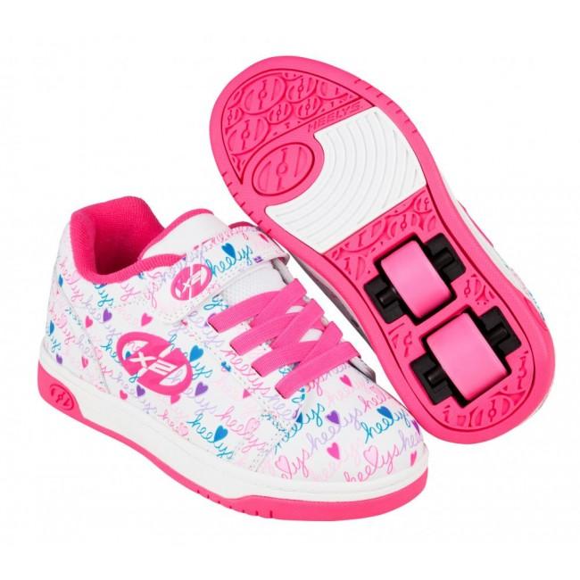 Heelys Dual Up X2 White/Pink/Multi