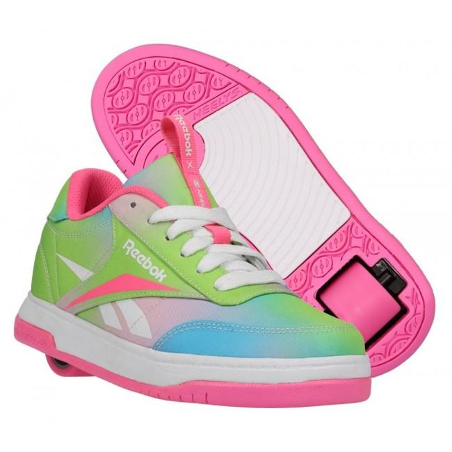 Heelys X Reebok Court Low Elec Pink/Neon Mint/Digi Glow