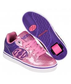 Heelys Motion Plus Purple/Pink Glitter