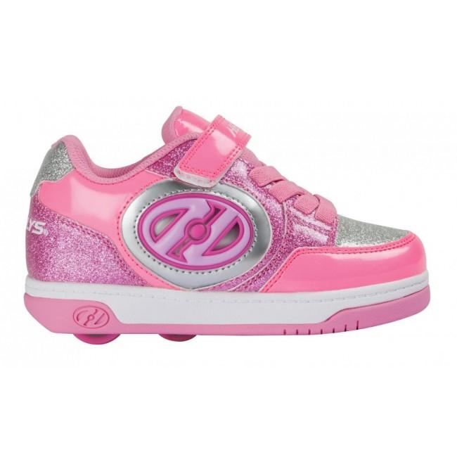 Heelys X2 Plus Lighted Neon Pink/Light Pink/Silver