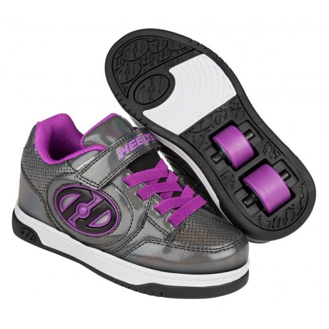 Heelys X2 Plus Lighted Black Sparkle/Purple