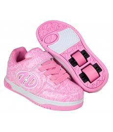 Heelys Plus X2 Lighted Pink Patent/White Logo