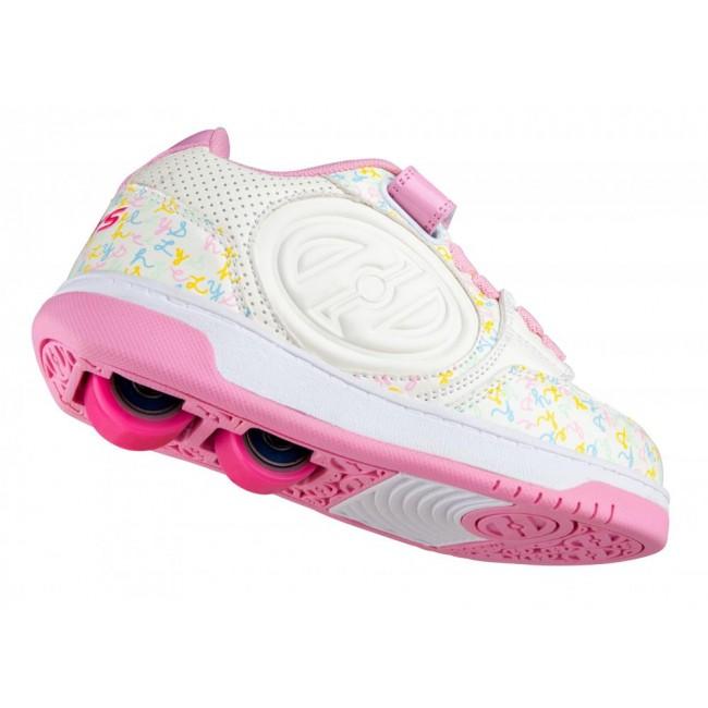 Heelys Plus X2 White/Light Pink/Multi Logo
