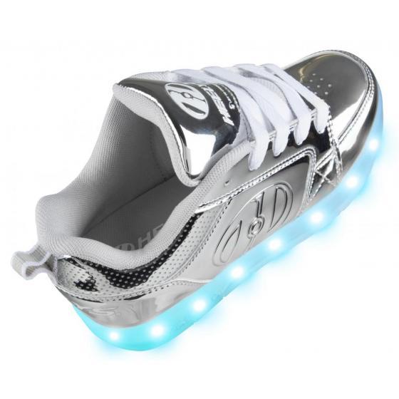 Heelys Premium 1 Lo Light Up Silver Chrome