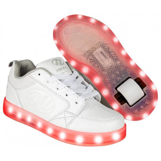Heelys Premium 1 Lo Light Up Triple White