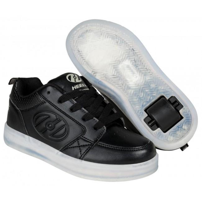 Heelys Premium 1 Lo Light Up Triple Black