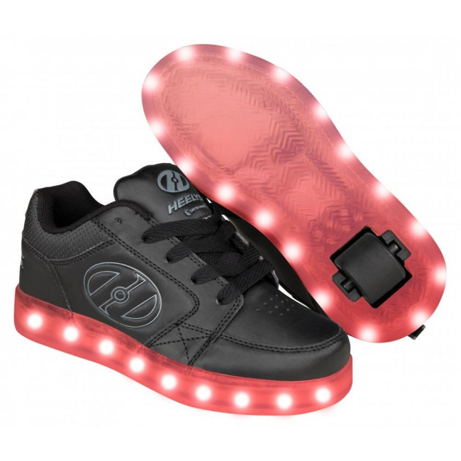 Heelys Premium 2 Lo Light Up Black/Grey
