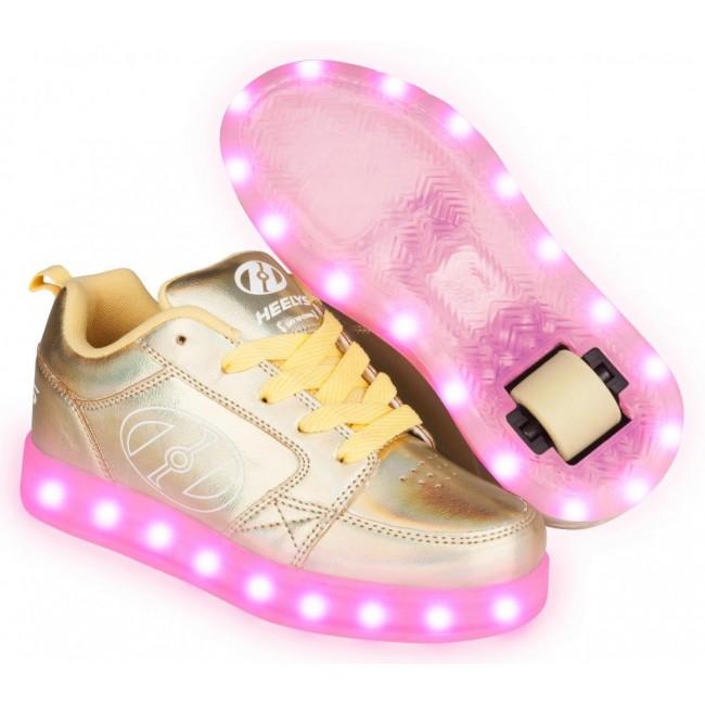 Heelys Premium 2 Lo Light Up Yellow Hologram