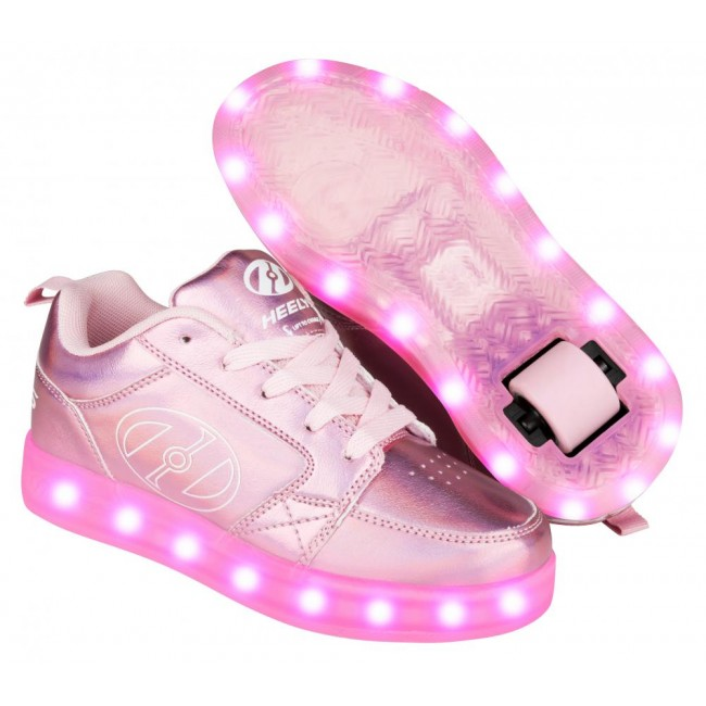 Heelys Premium 2 Lo Light Up Pink Hologram
