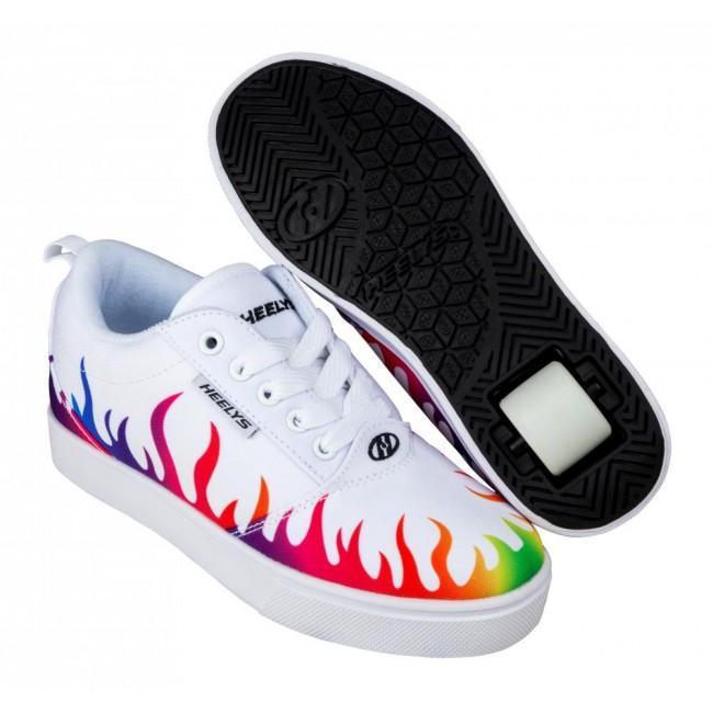 Heelys Pro 20 Prints White/Rainbow Flames