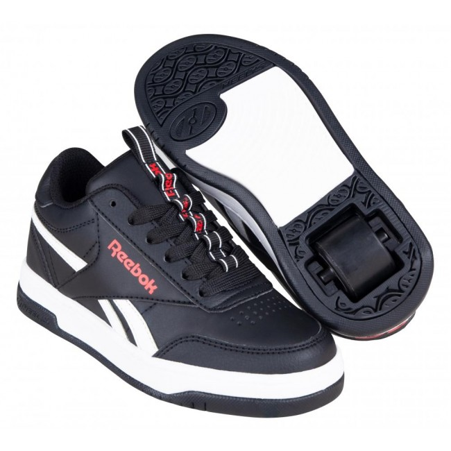 Heelys X Reebok CL Court Low Core Blac/White/Vector Red