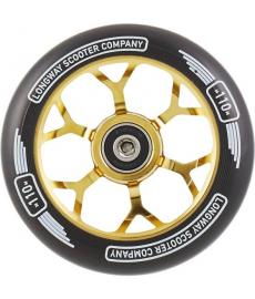 Longway Precinct Scooter Wheel Neo Gold 110mm
