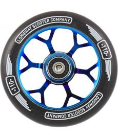 Longway Precinct Scooter Wheel Blue Neo Chrome 110mm