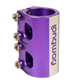 Longway Quattro SCS Scooter Clamp Purple