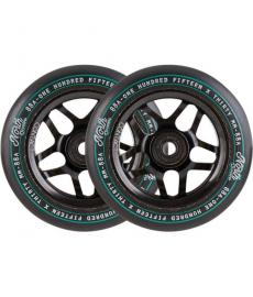 North Contact 115mm Scooter Wheels Black 2 Pack