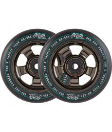 North HQ Scooter Wheels Black/Chrome 2 Pack