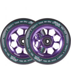 North Pentagon Scooter Wheels Purple 120mm 2 Pack