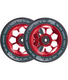 North Pentagon Scooter Wheels Red 120mm 2 Pack