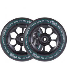North Pentagon Scooter Wheels Matte Black 120mm 2 Pack