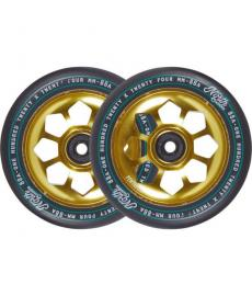 North Pentagon Scooter Wheels Gold 120mm 2 Pack