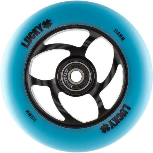 Lucky Torsion Scooter Wheel Teal/Black 110mm
