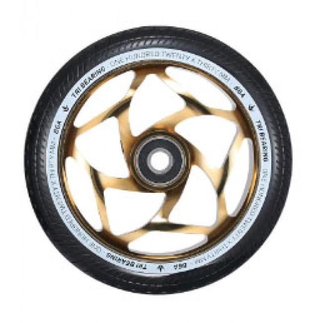 Blunt Tri Bearing Scoter Wheel Gold/Black 120mm x 30mm