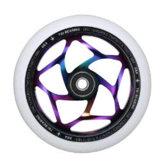 Blunt Tri Bearing Scoter Wheel Oil Slick/White 120mm x 30mm