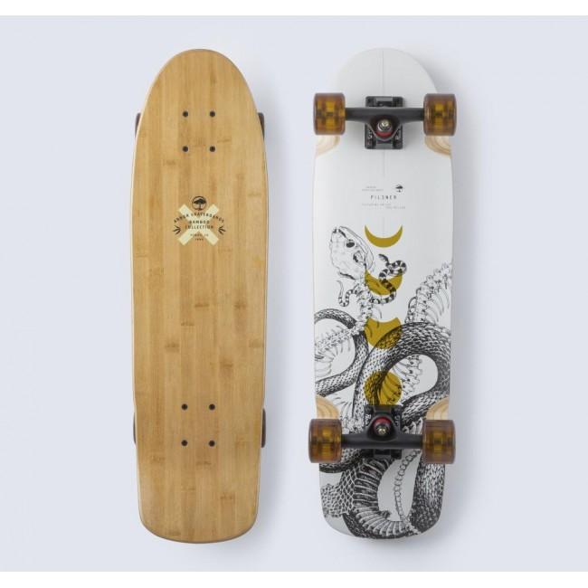 Arbor Bamboo Pilsner Cruiser Skateboard White 28.27