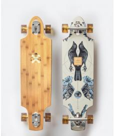 Arbor Bamboo Zeppelin Cruiser Skateboard White/Blue 32""