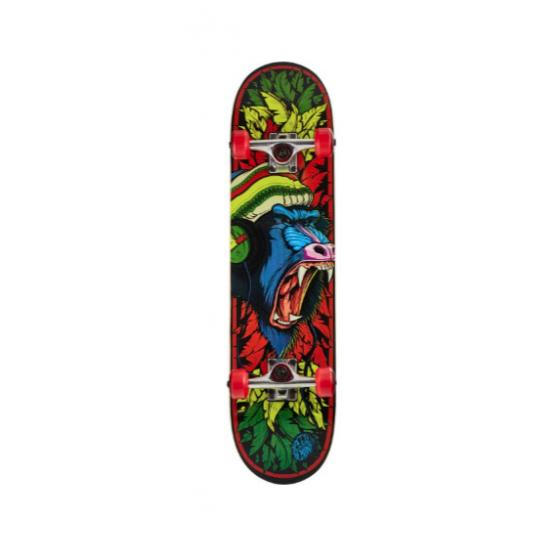 """Speed Demons Animal Baboon Complete Skateboard 7.75"""" Red"""
