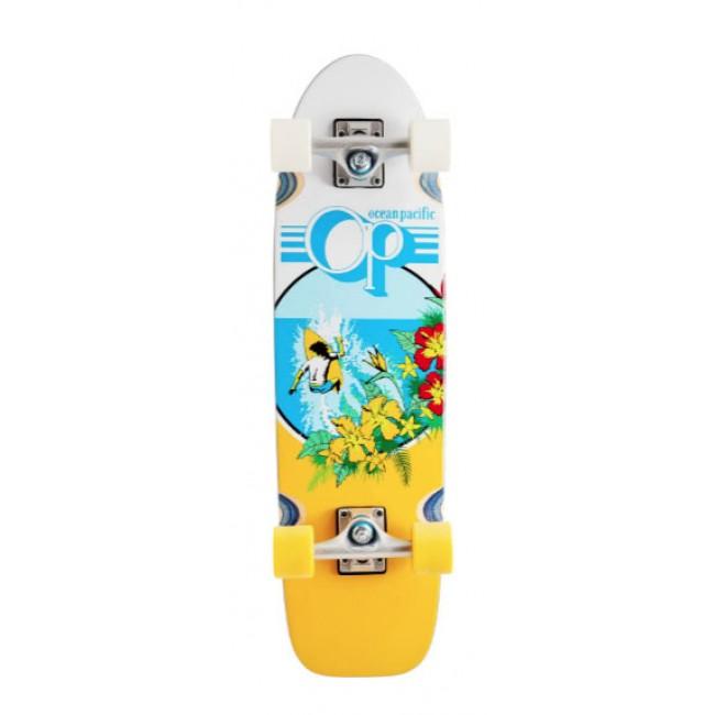 "Ocean Pacific Makai Cruiser Skateboard 29"" White"
