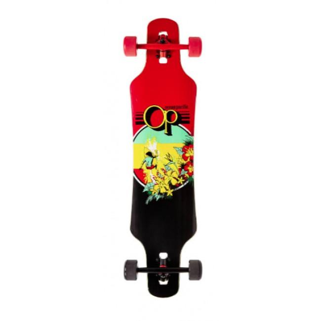 Ocean Pacific Drop Through Cruiser Skateboard Rasta Makai 39