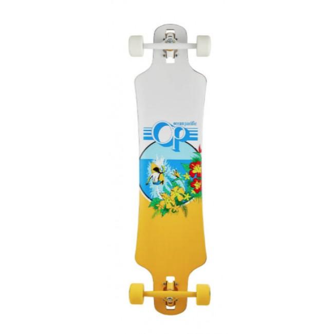 Ocean Pacific Drop Through Cruiser Skateboard White 39