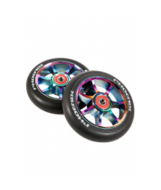 Phoenix F7 Alloy Scooter Wheels Neo Chrome 110mm
