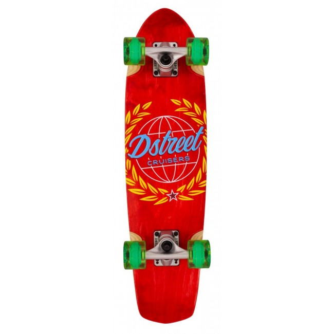 D Street Atlas Cruiser Skateboard Red 28