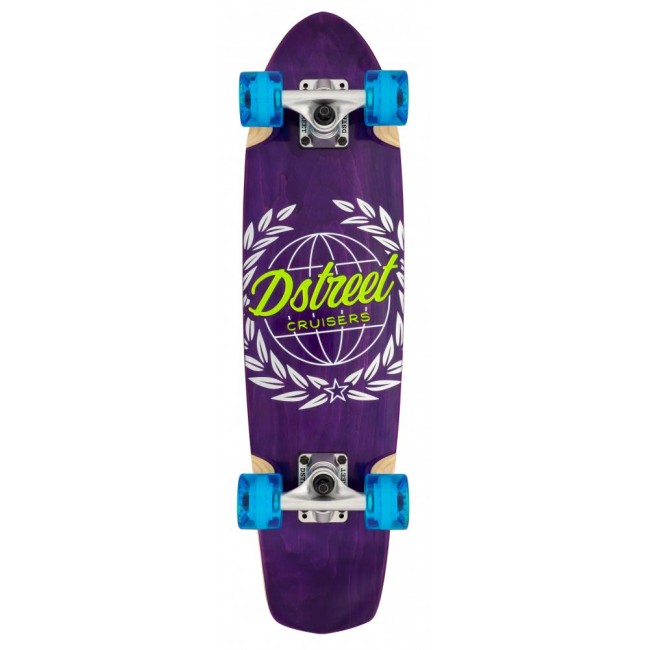 D Street Atlas Cruiser Skateboard Purple 28
